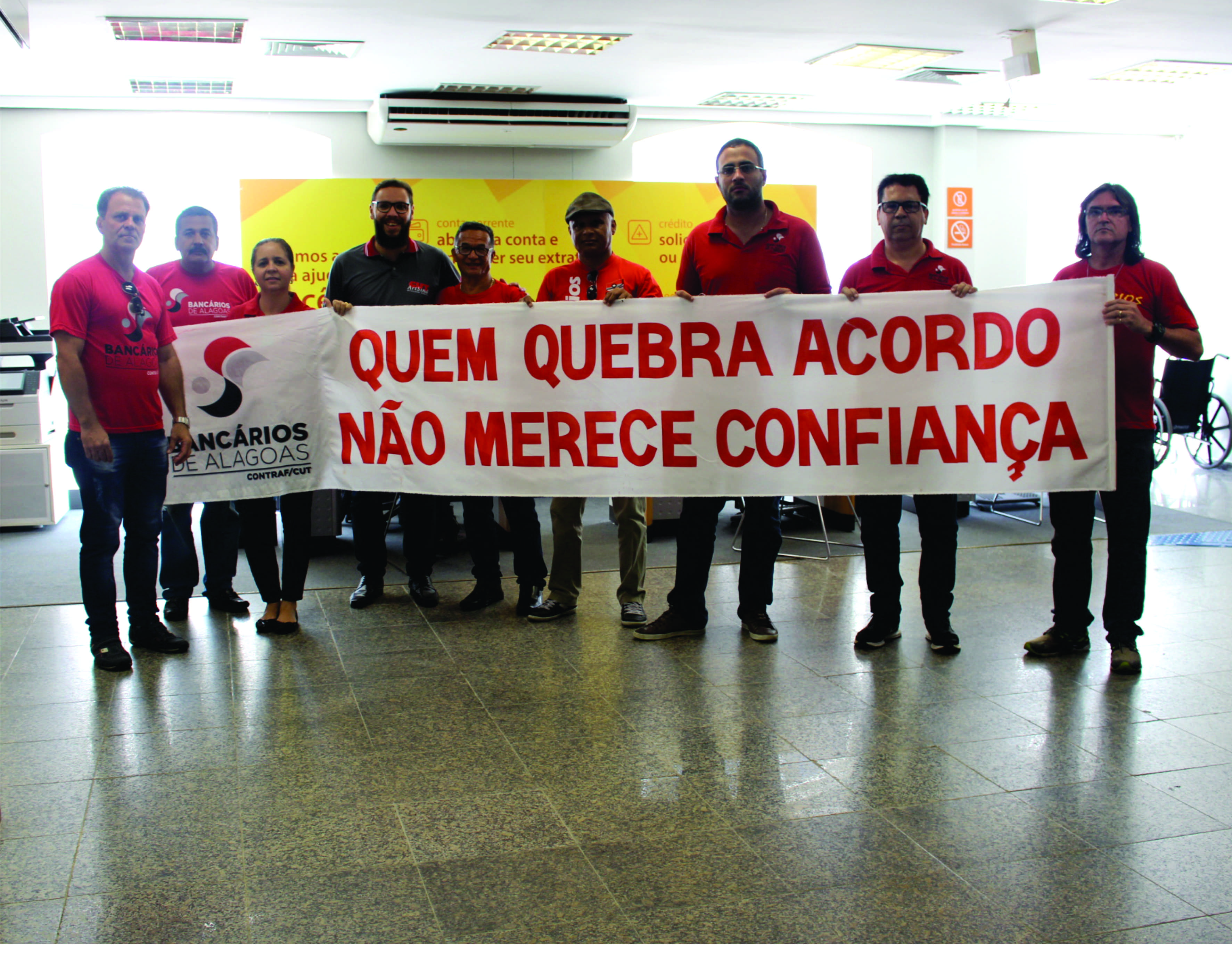 Protesto no interior do Itaú